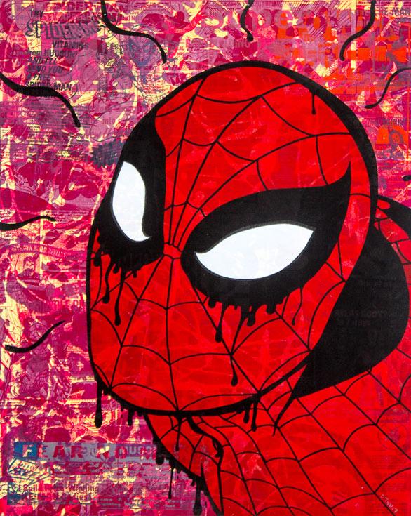 Spiderman Donald Topp icon print