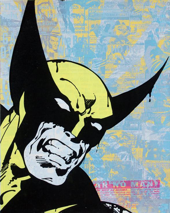 Wolverine Donald Topp cartoon icon print