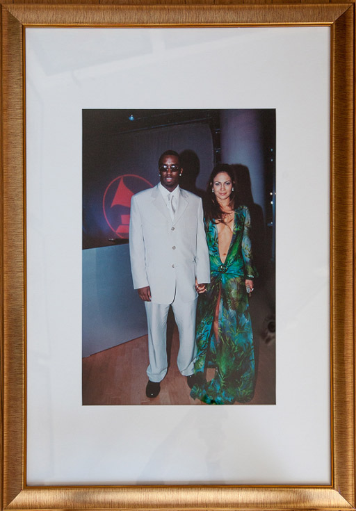 The most photographed dress of the 20th century. Sean Combs & Jennifer Lopez by Patrick McMullan