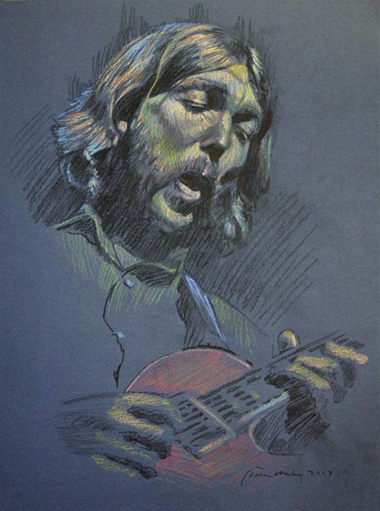 Duane Allman Original Drawing by Peter Hurley