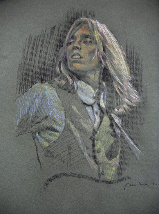 Tom Petty Original Drawing by Peter Hurley