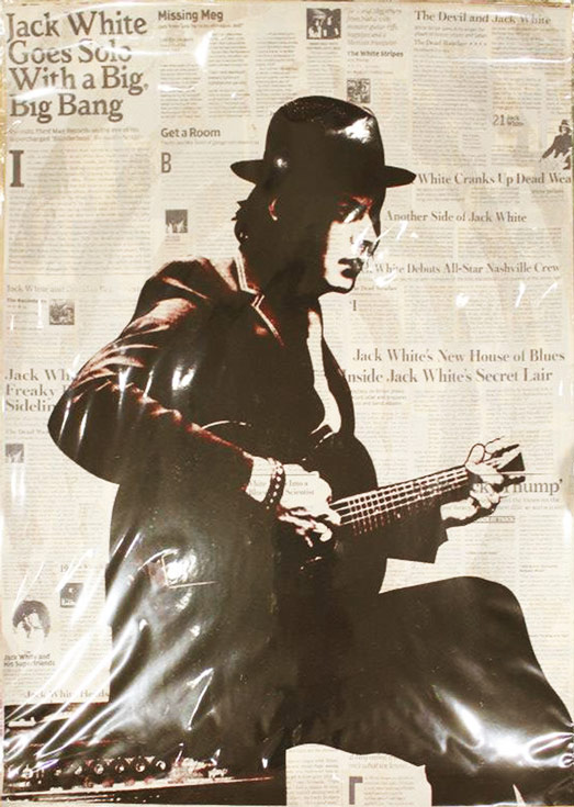 Jack White Icon Print by Donald Topp