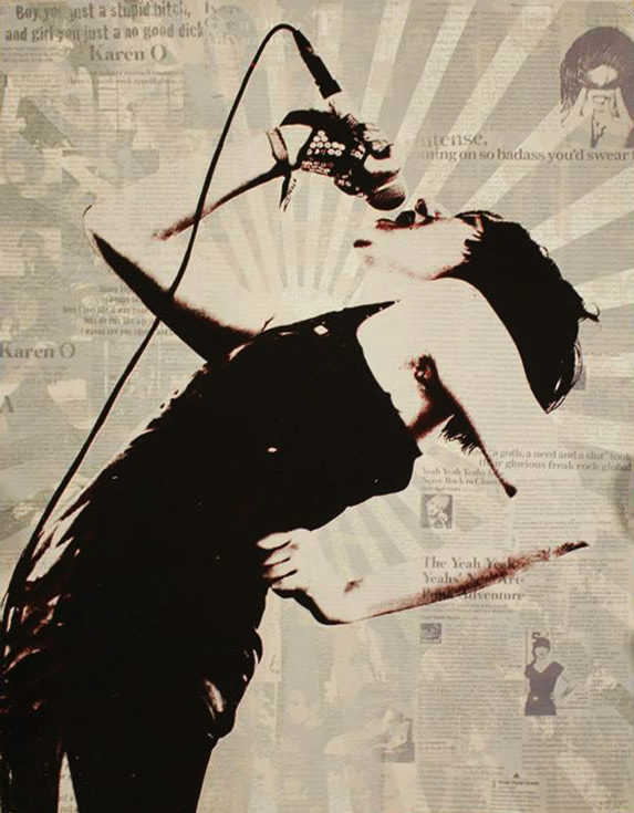 Karen O of the Yeah Yeah Yeahs Icon Print by Donald Topp