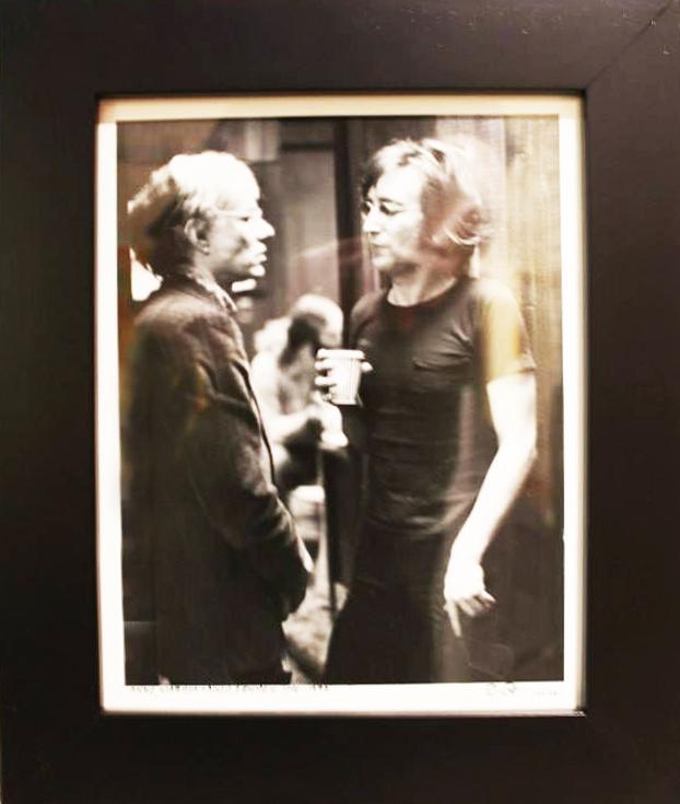 Andy Warhol and John Lennon by Bob Gruen