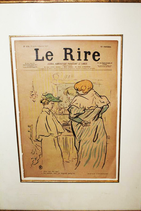 Le Rire photos etching relief lithograph by Toulouse-Lautrec