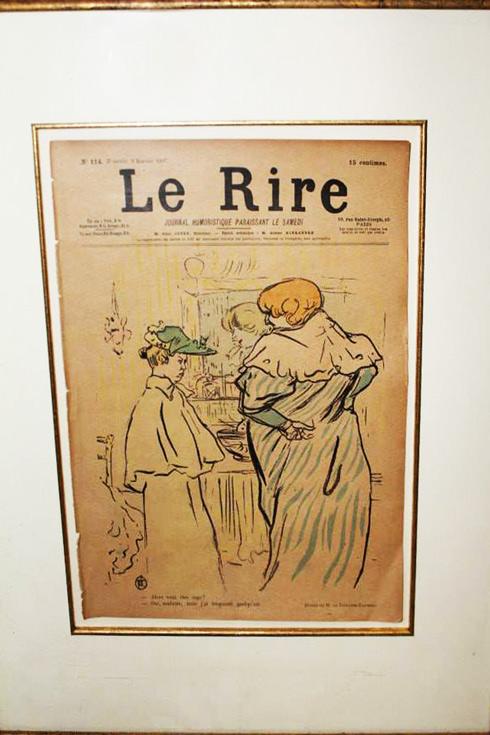 Le Rire photos etching relief lithograph by Toulouse-Lautrec