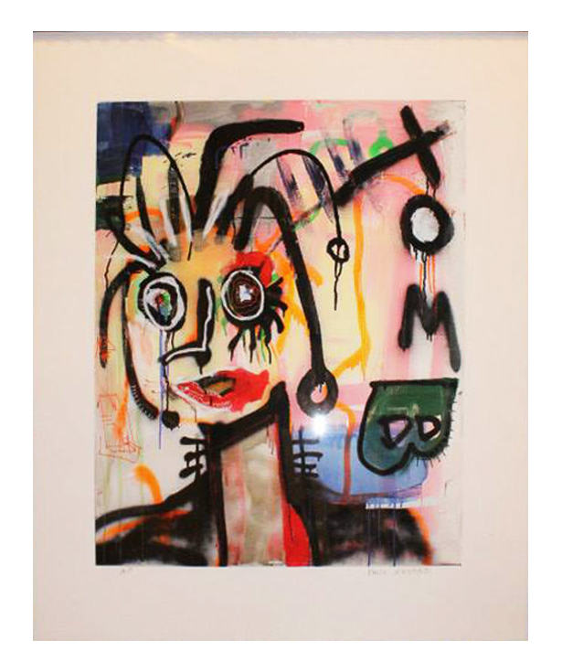 Signed limited edition Giclée print on paper by Paul Kostabi