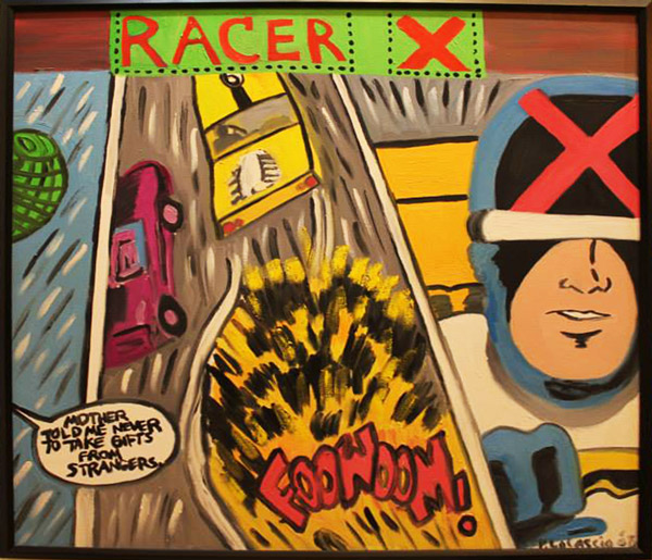 """Racer X"" oil painting on canvas"