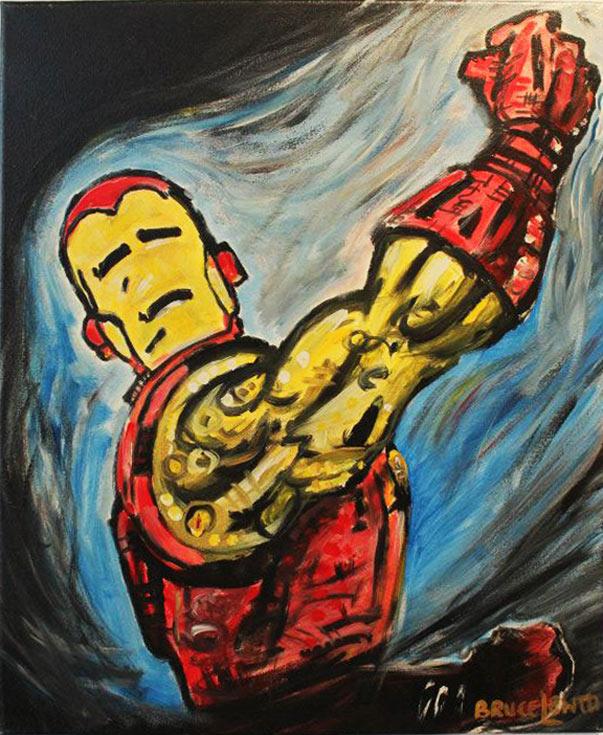 Ironman acrylic on canvas by Bruce Lehto