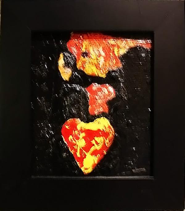 """""""Heart"""" acrylic on wood by Frank Cavanaugh"""