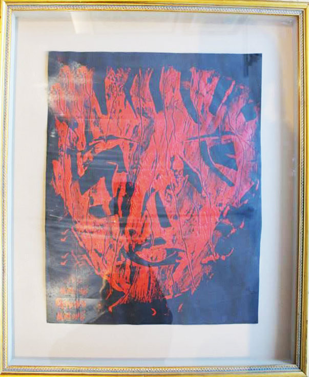 Untitled original monoprint face by Andy Kane