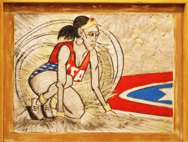 Jackie Joyner Wonder Woman by Mike Zelenko