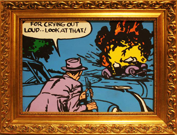 """""""For Crying Out Loud"""" hand painted acrylic on board by Shane Swank"""