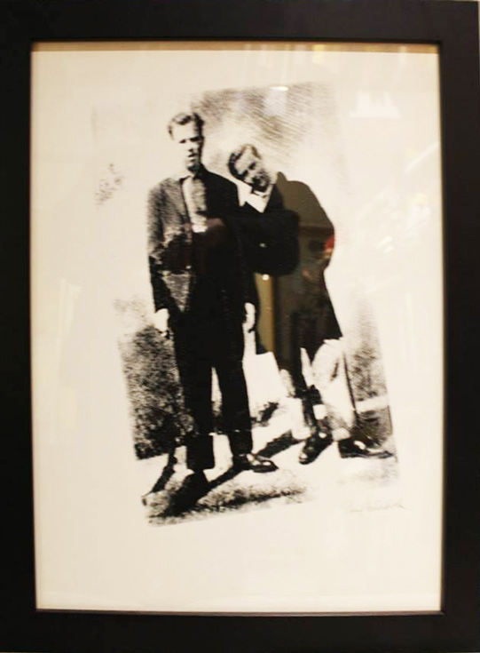 Paul and Andy screen print on paper by Paul Warhola