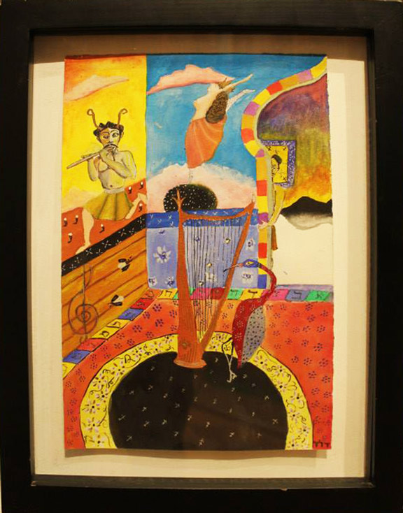 Pan Hand painted gouache by David Simpson