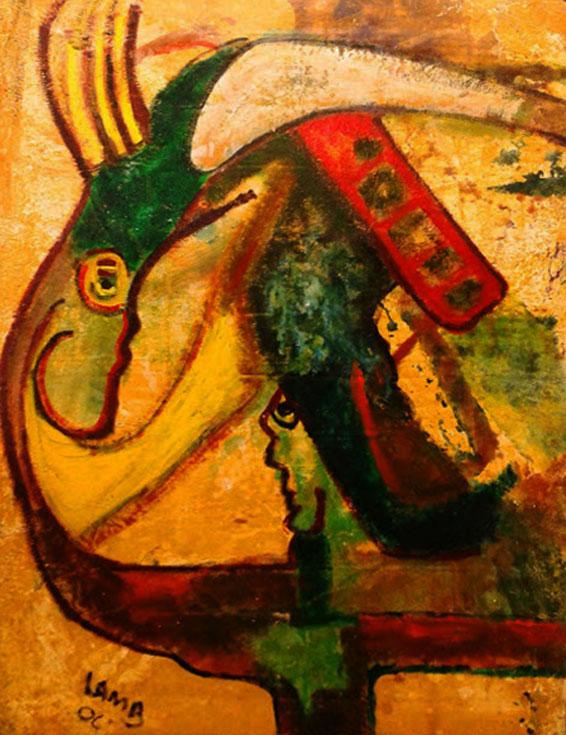 """by Matt Lamb ID #SBI 089-2006 ● Oil on canvas ● 46.75""""x68"""""""