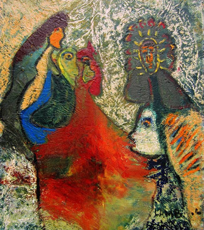 """by Matt Lamb ID# SBI 742-2007 ● Oil on canvas ● 56""""x64"""""""