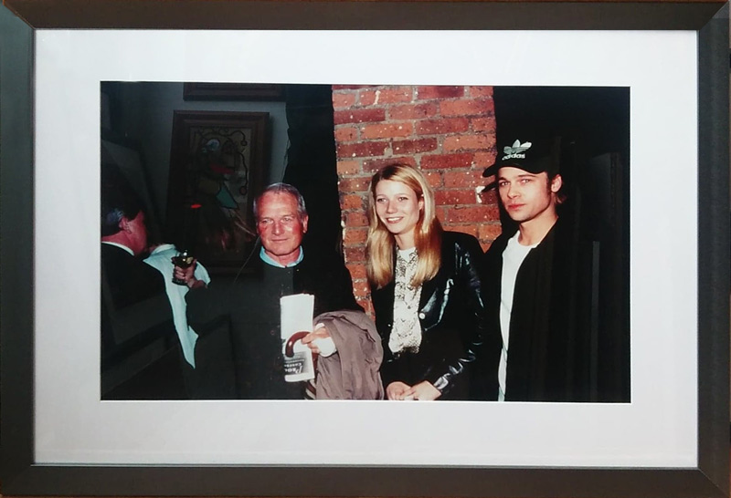 Paul Newman, Gwyneth Paltrow and Brad Pitt by Patrick McMullen