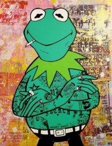Kermit Donald Topp Cartoon Tattoo Hipster