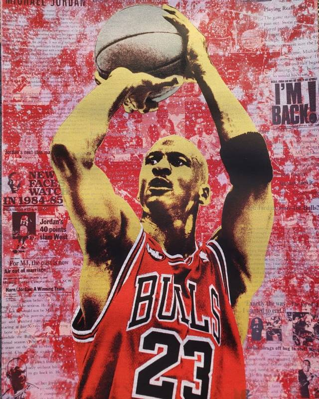 Michael Jordan Icon print by Donald Topp