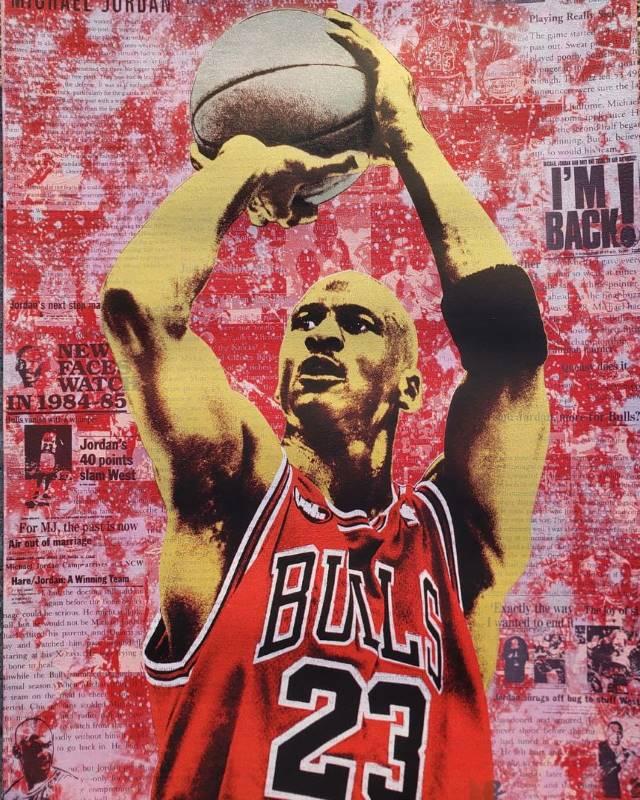 Michael Jordan Icon print by Donald Topp