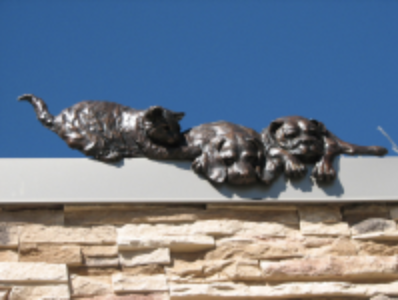 Bas relief animals