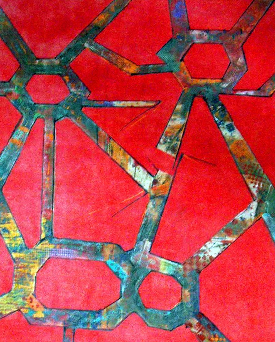 "UNTITLED<br> clay monoprint 48""x56"""