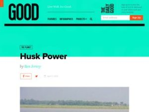 Husk Power in Good Magazine