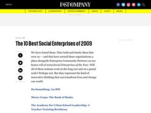 Top-10 Social Enterprise 2009