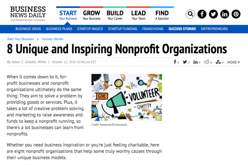 8 Unique and Inspiring Nonprofit Organizations | Business News Daily