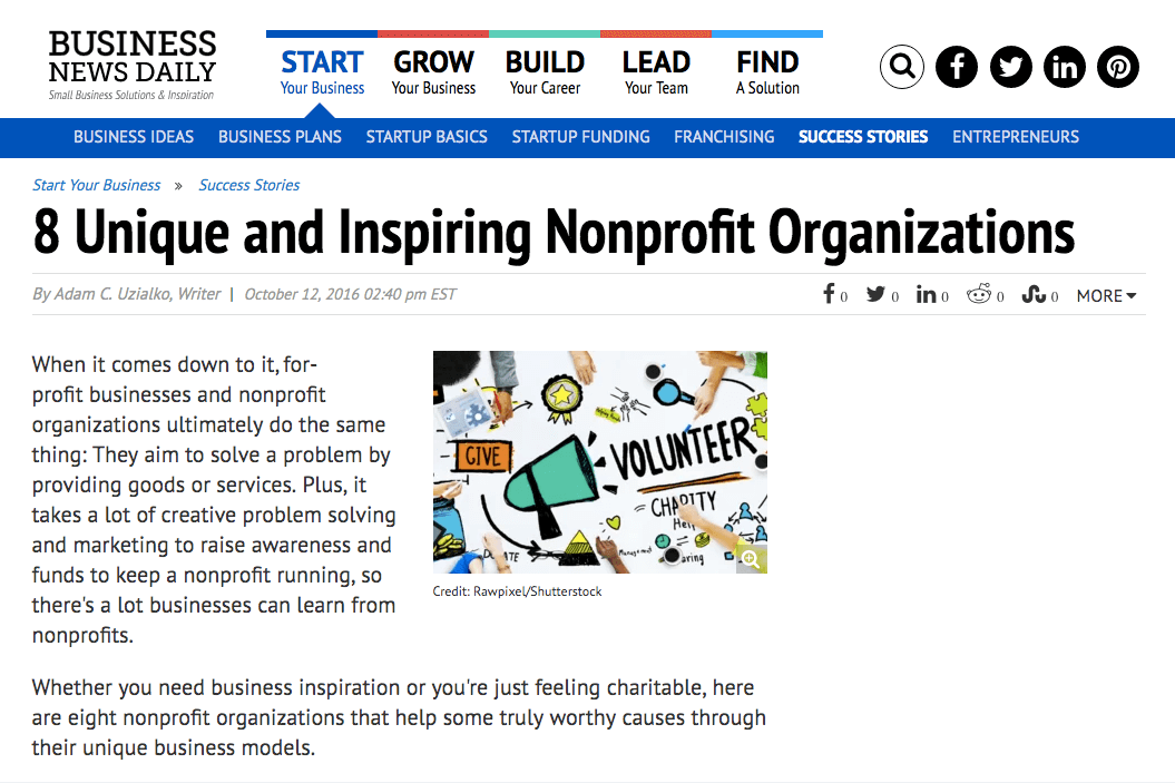 8 Unique and Inspiring Nonprofit Organizations   Business News Daily