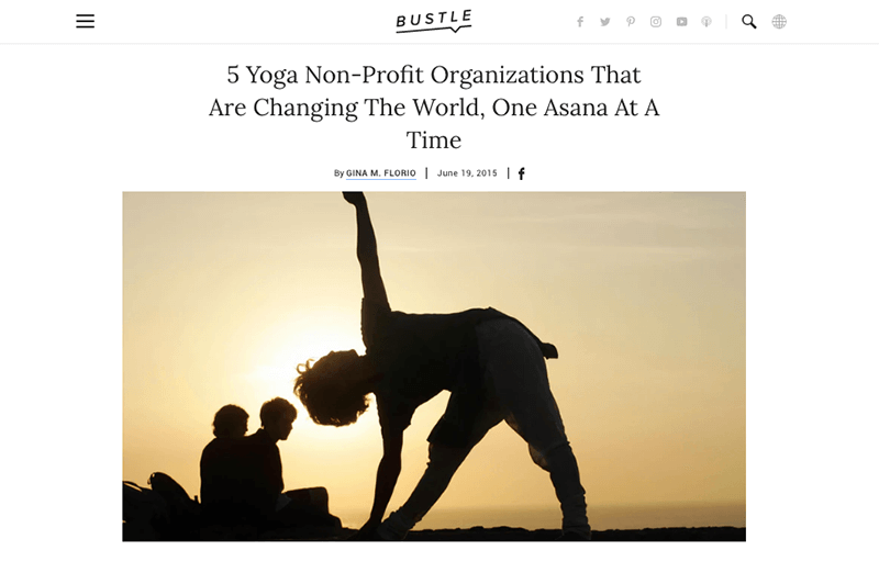 5 Yoga Non-Profit Organizations That Are Changing The World, One Asana At A Time   Bustle