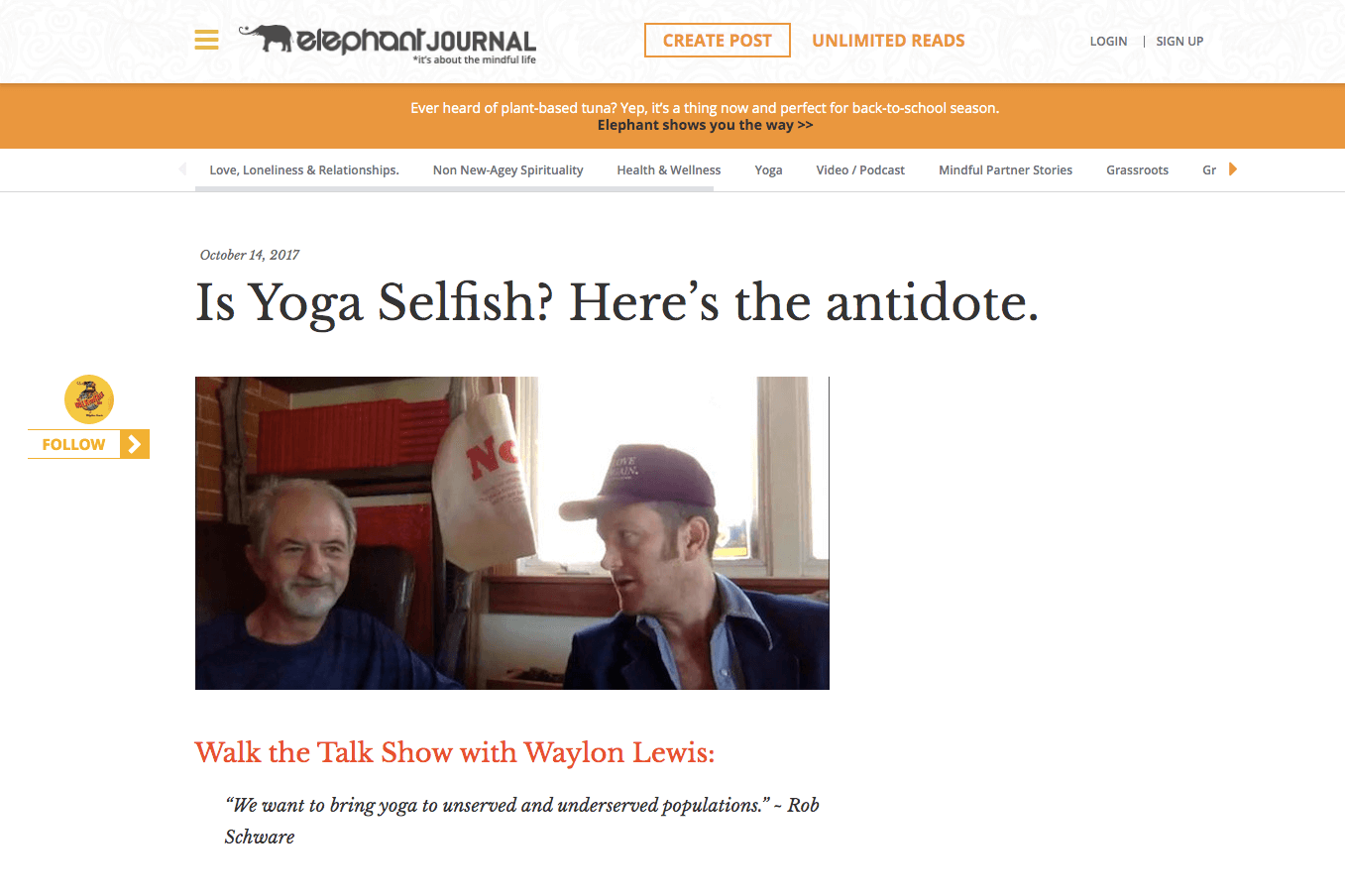 Is Yoga Selfish? Here's the antidote. | Elephant Journal