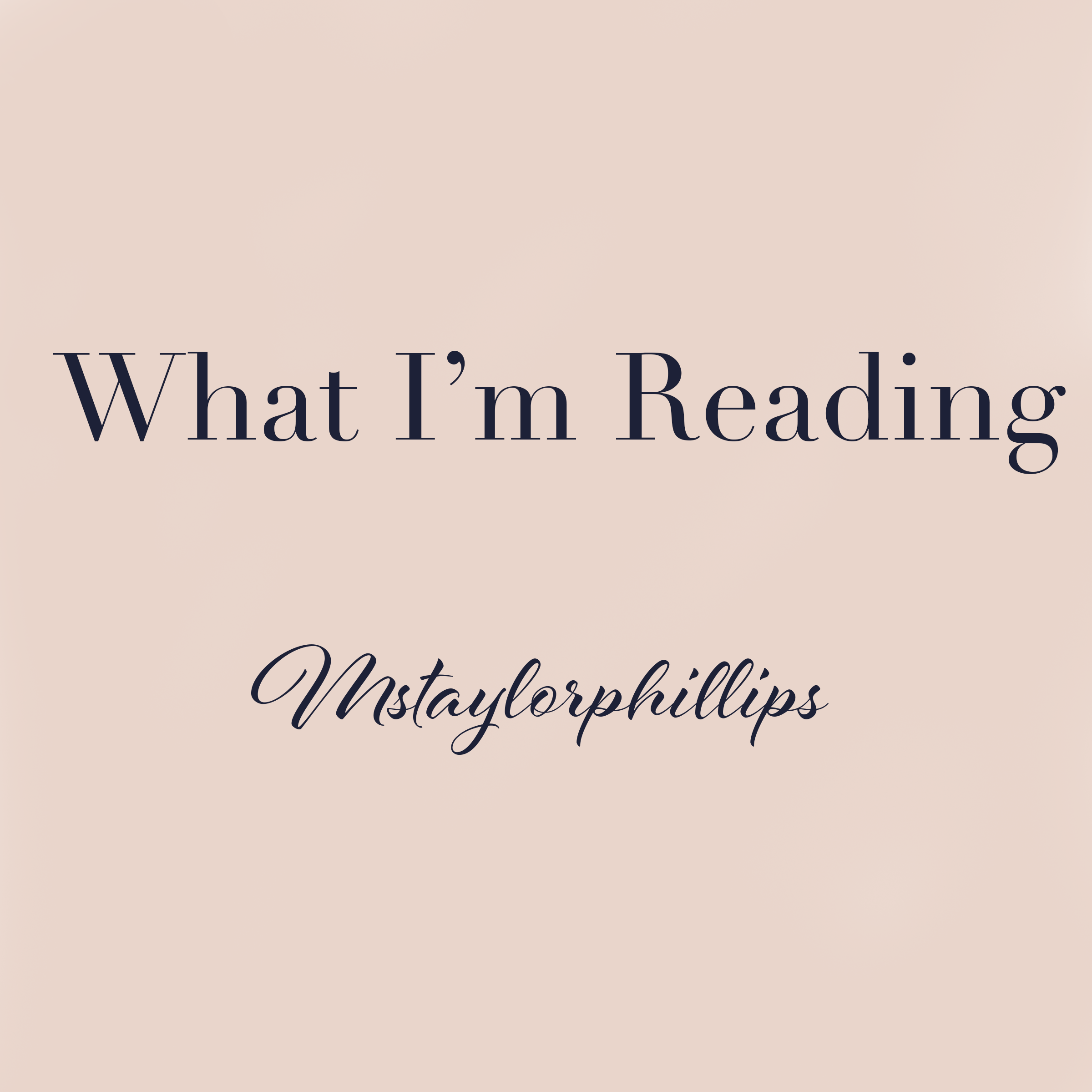 What I'm Reading This Week