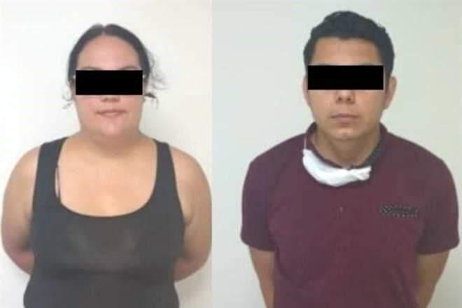 PAREJA DETENIDA POR VIAJAR EN VEHÍCULO CON REPORTE DE ROBO.