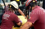 ACCIDENTE VIAL EN MONTEMORELOS, REPORTAN PERSONAS LESIONADAS.