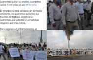 PLANEABA SAMUEL GARCIA CLAUSURA SIMBOLICA EN REFINERIA DE CADEREYTA, TRABAJADORES LO ESPERARON CON PROTESTAS.