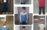 7 HOMBRES DETENDIOS EN ARAMBERRI, LUEGO DE AGREDIR A 2 POLICIAS A GOPES Y QUITALRE UN ARMA DE GRUESO CALIBRE.