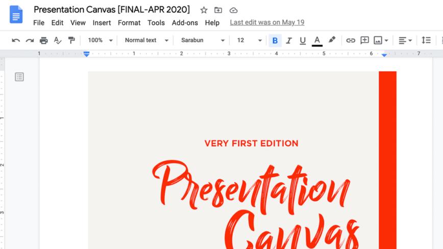 เบื้องหลังการเขียนหนังสือ Presentation Canvas
