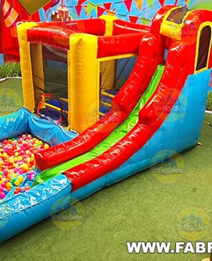 inflable con alberca