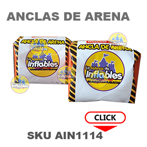 anclas para inflables