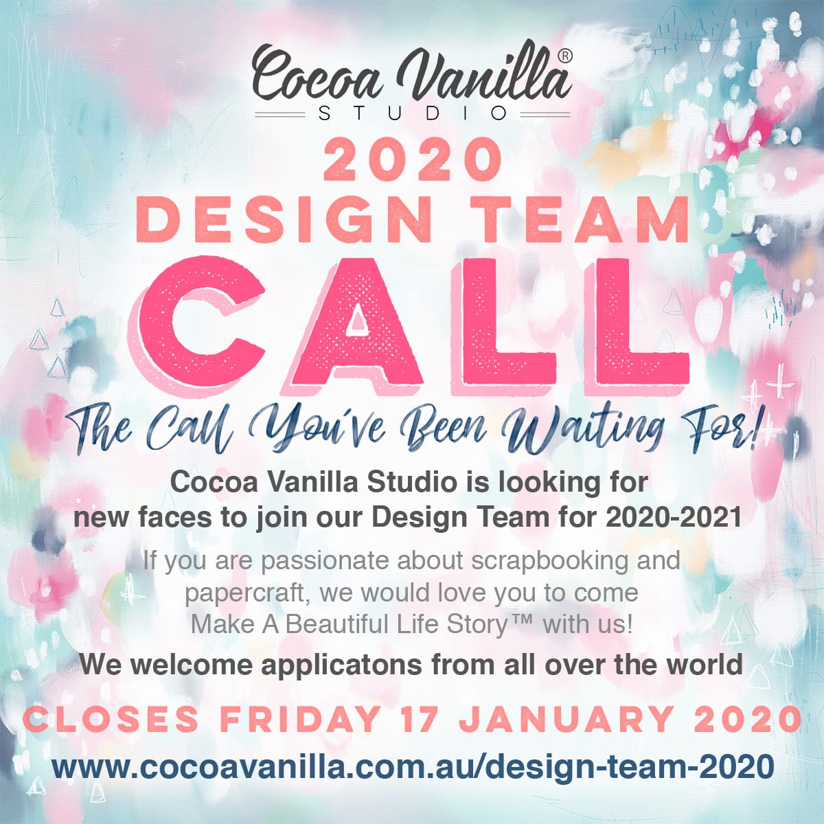 2020 Design Team Call | Apply Now!