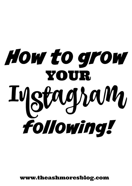 How to grow your Instagram following!