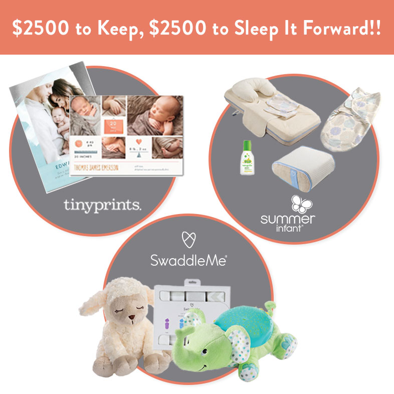 Sleep it Forward Sweepstakes PLUS a $100 gift card to Tiny Prints!