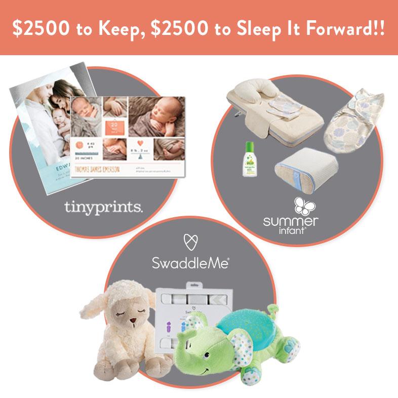Sleep it Forward Sweepstakes PLUS a $100 gift card to Tiny Prints!