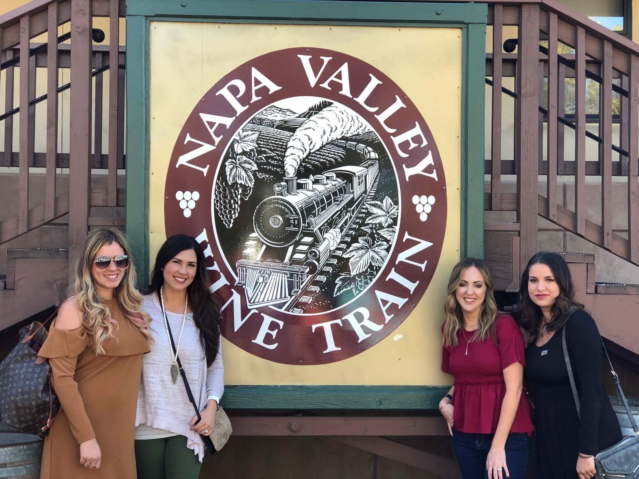 wine train girls blogger trip
