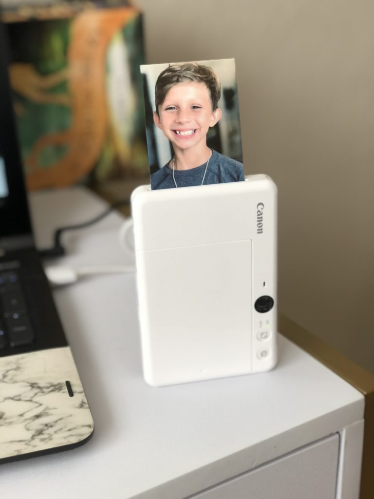 "When you connect your smartphone to the Canon Mini Print app via Bluetooth you can even use fun AR filters and add effects, frames, text, and stickers to your 2""x3"" peel-and-stick photos!"