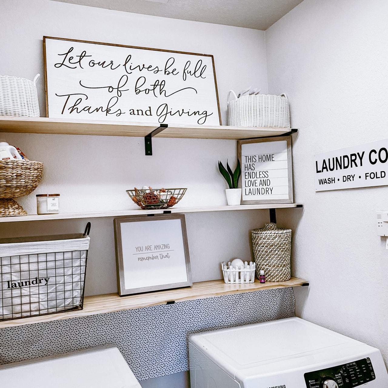 Small Laundry room makeover for under $150!