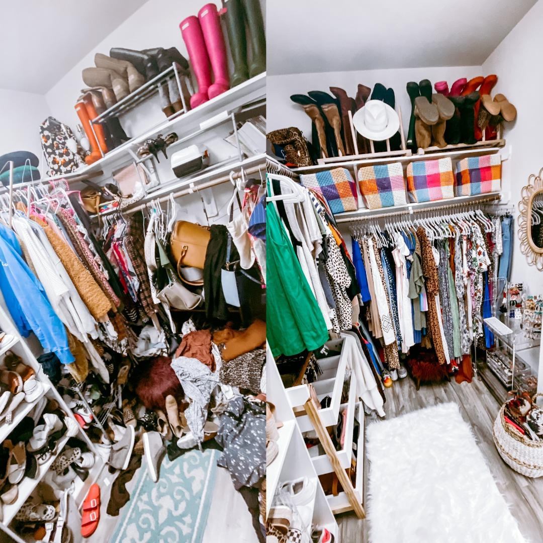 Small closet makeover. Maximizing every inch.
