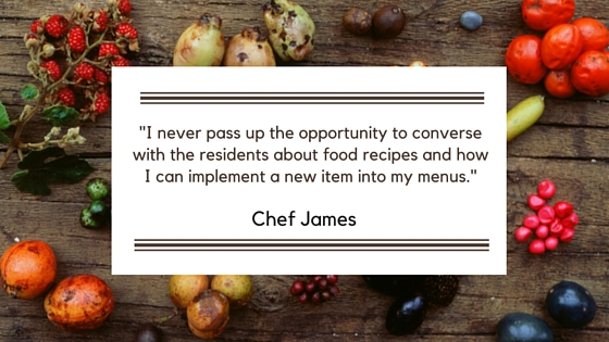 Mansions Chef James quote